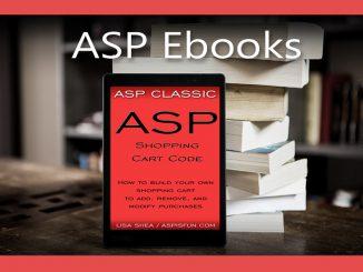 ASP Shopping Code Ebook